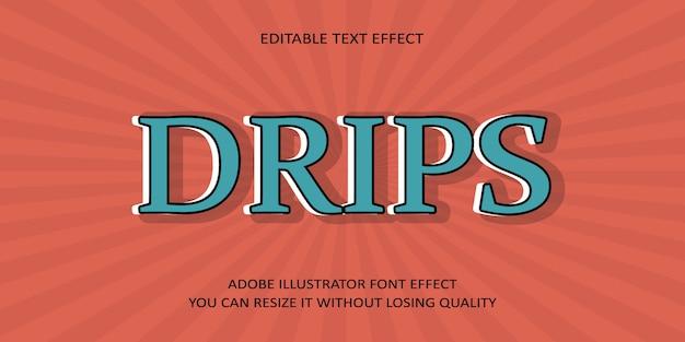 Текстовый эффект шрифта