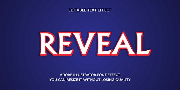 Выявить эффект шрифта текста