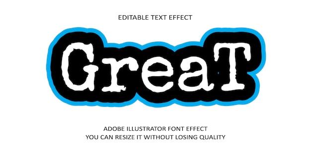 Отличный эффект шрифта текста