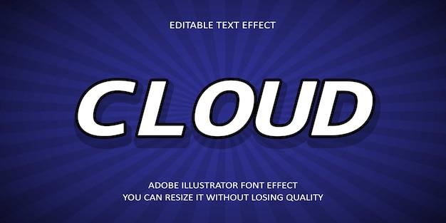 Эффект шрифта облака текста
