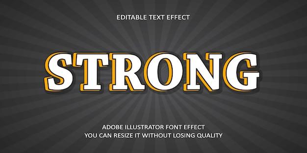 Сильный текстовый эффект шрифта