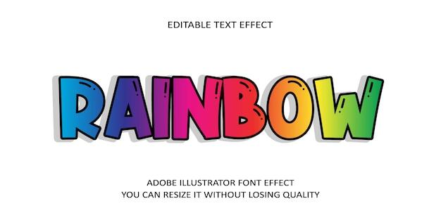 Радужный текстовый эффект шрифта
