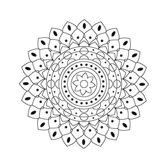 Индийский вектор мандала линейный дизайн
