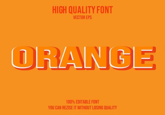 Шрифт оранжевого текста