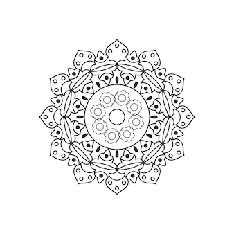 Циркуляр мандала вектор линейный дизайн