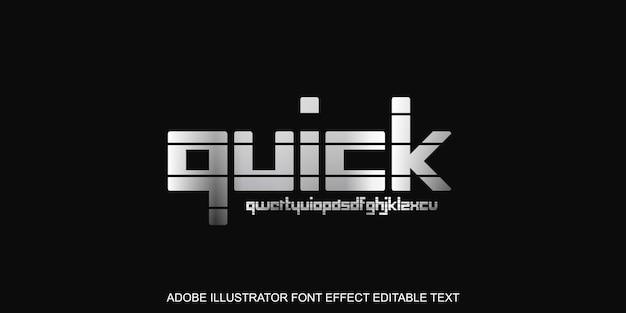 Премиум быстрый текстовый эффект