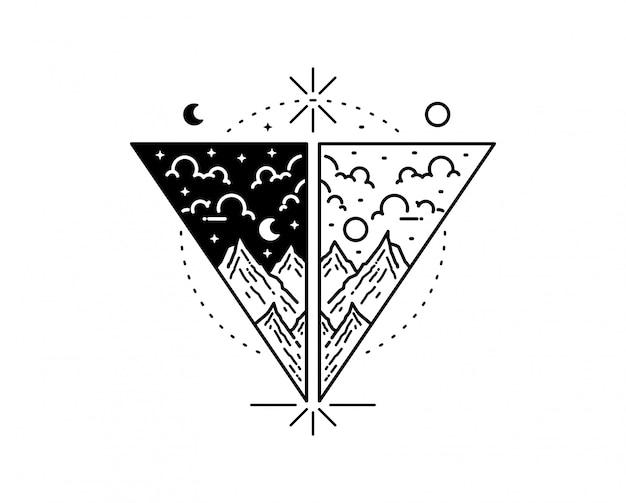 Открытый рисованной иллюстрацией