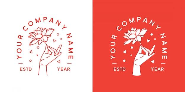 Мудра хэнд логотип минималист