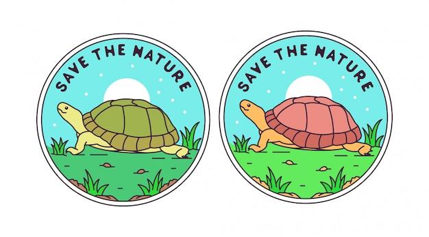 自然バッジのデザイン