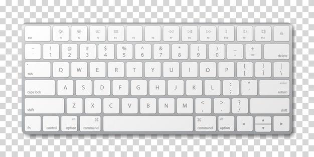 Современная алюминиевая клавиатура компьютера