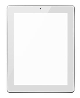 空白の画面を持つ現実的なタブレット。