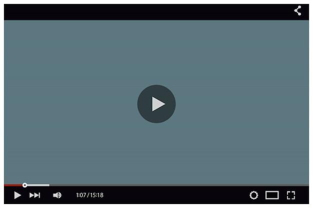 Шаблон видео плеера