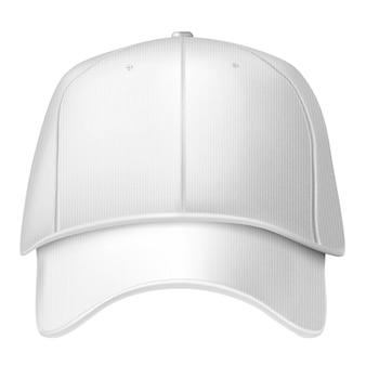 白い背景で隔離の野球帽。