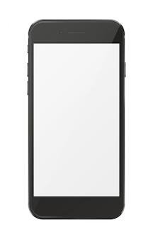 白で隔離される現代のスマートフォン。