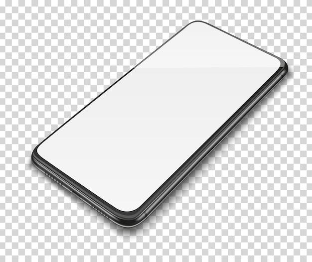 Смартфон с пустым экраном.