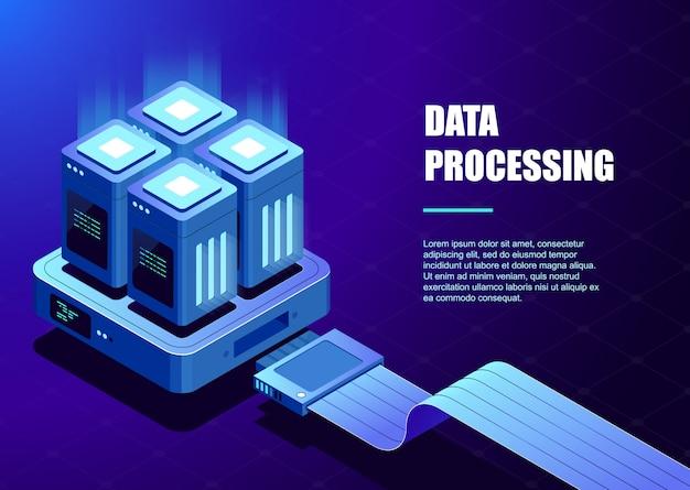 Вычисление шаблона большого центра обработки данных