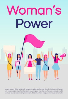 Шаблон брошюры силы женщин