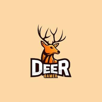 エスポートロゴの鹿ロゴデザイン