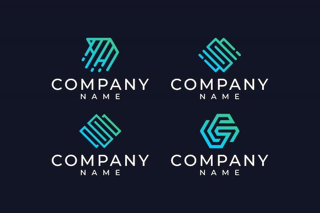 Вдохновенный абстрактный дизайн логотипа
