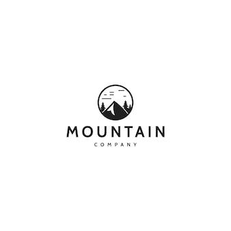 Горный дизайн логотипа