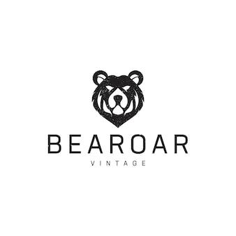 Медведь рев старинный логотип