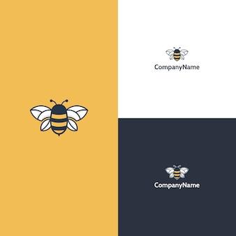 Шаблон логотипа современной пчелы