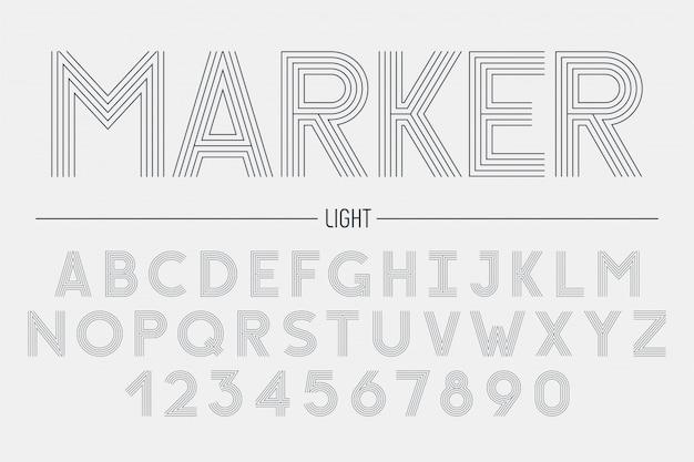 Ретро футуристический жирный декоративный шрифт