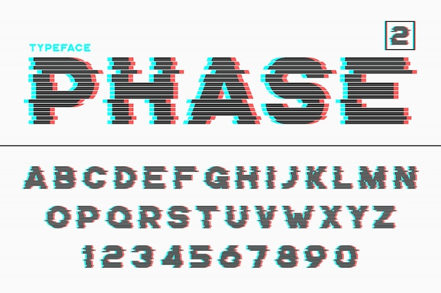Декоративный футуристический шрифт