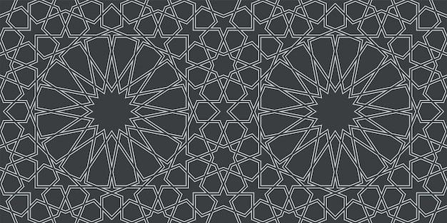 本格的なアラビア風のシームレスパターン