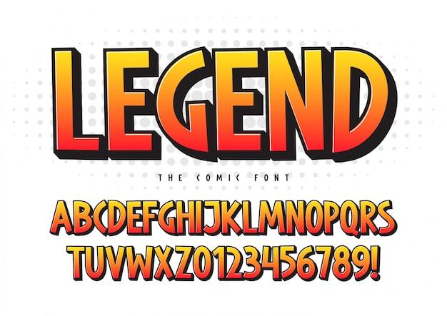 Легендарный комический дизайн шрифта