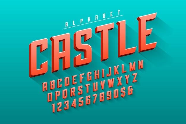 ベクトル凝縮オリジナルディスプレイフォントデザイン、アルファベット