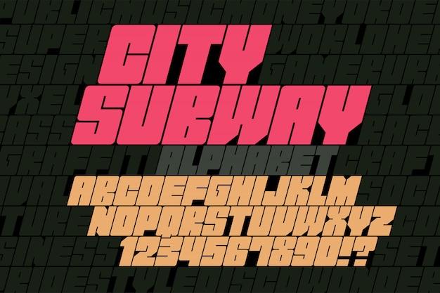 Оригинальный дисплей шрифта граффити, алфавит, буквы