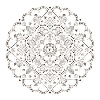 Рамки для фона или татуировки на основе традиционных азиатских орнаментов