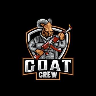 ヤギのマスコットのロゴ