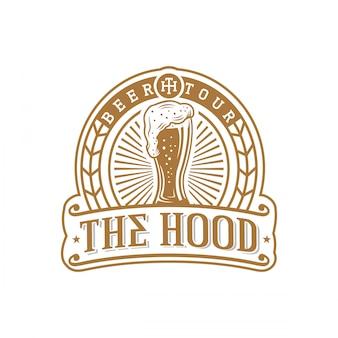 Пивной шаблон логотипа