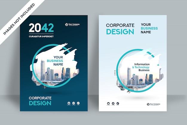 Шаблон оформления обложки бизнес-фон города