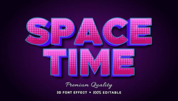 Пространство-время - редактируемый текстовый эффект