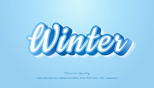 Эффект зимнего редактируемого стиля текста