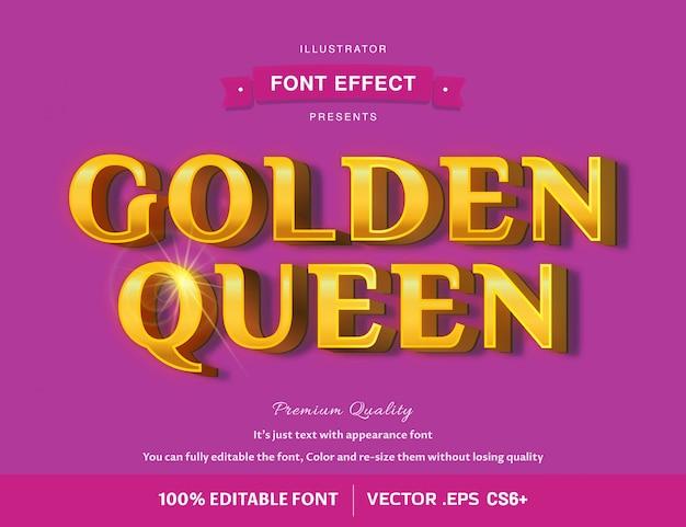 豪華な古いゴールドフォント効果、編集可能なテキスト