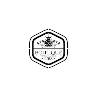 高級ブティックのロゴのテンプレート