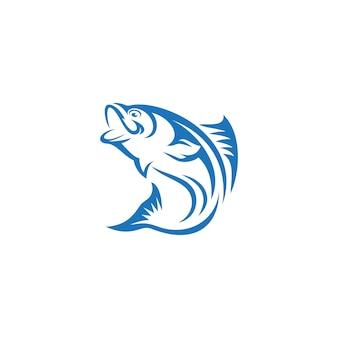 魚のロゴのテンプレート