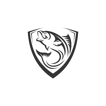 Шаблон логотипа рыбы