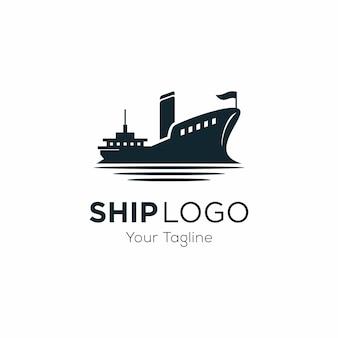 クルーズ船のロゴのテンプレート