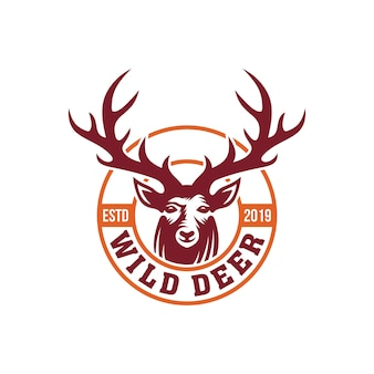 鹿のロゴのテンプレート