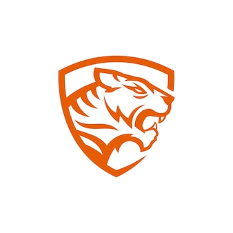 タイガーロゴのベクトル