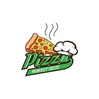 ピザのロゴのデザインテンプレート
