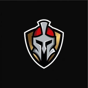 騎士戦士のロゴのテンプレート