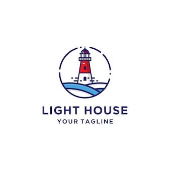 Шаблон логотипа маяк
