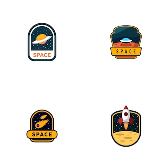 スペースのロゴのセット