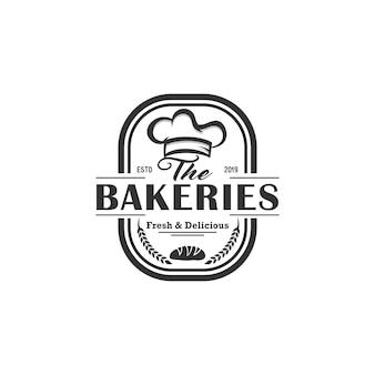 パン屋さんのビンテージロゴベクトル